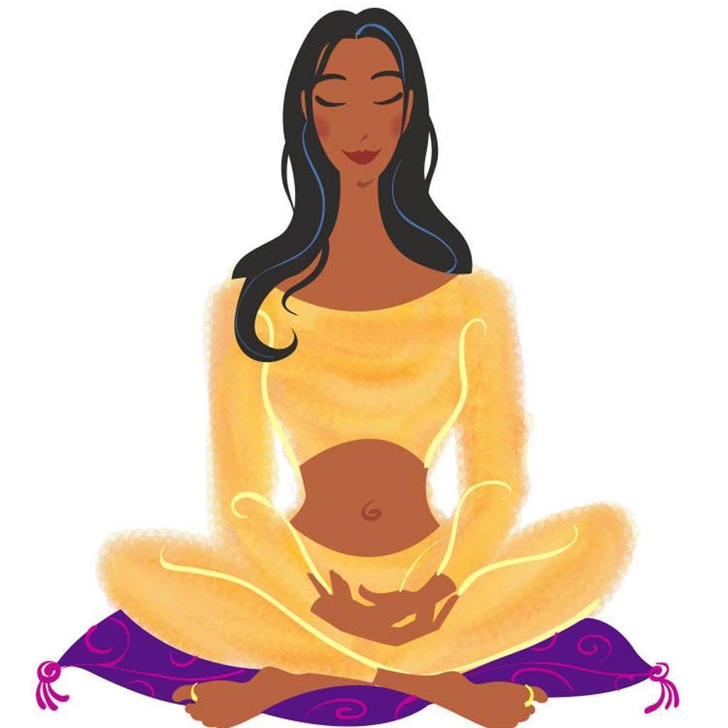 desene femeie caricatura calm yoga (www.valeriemorrison.net)