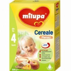milupa cereale piersici, de la 4 luni, 200g
