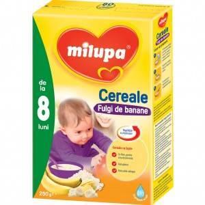 cereale Milupa cu fulgi de banane