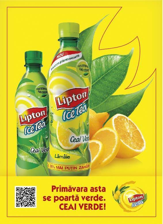 Lipton Ceai Verde cu Stevia 1