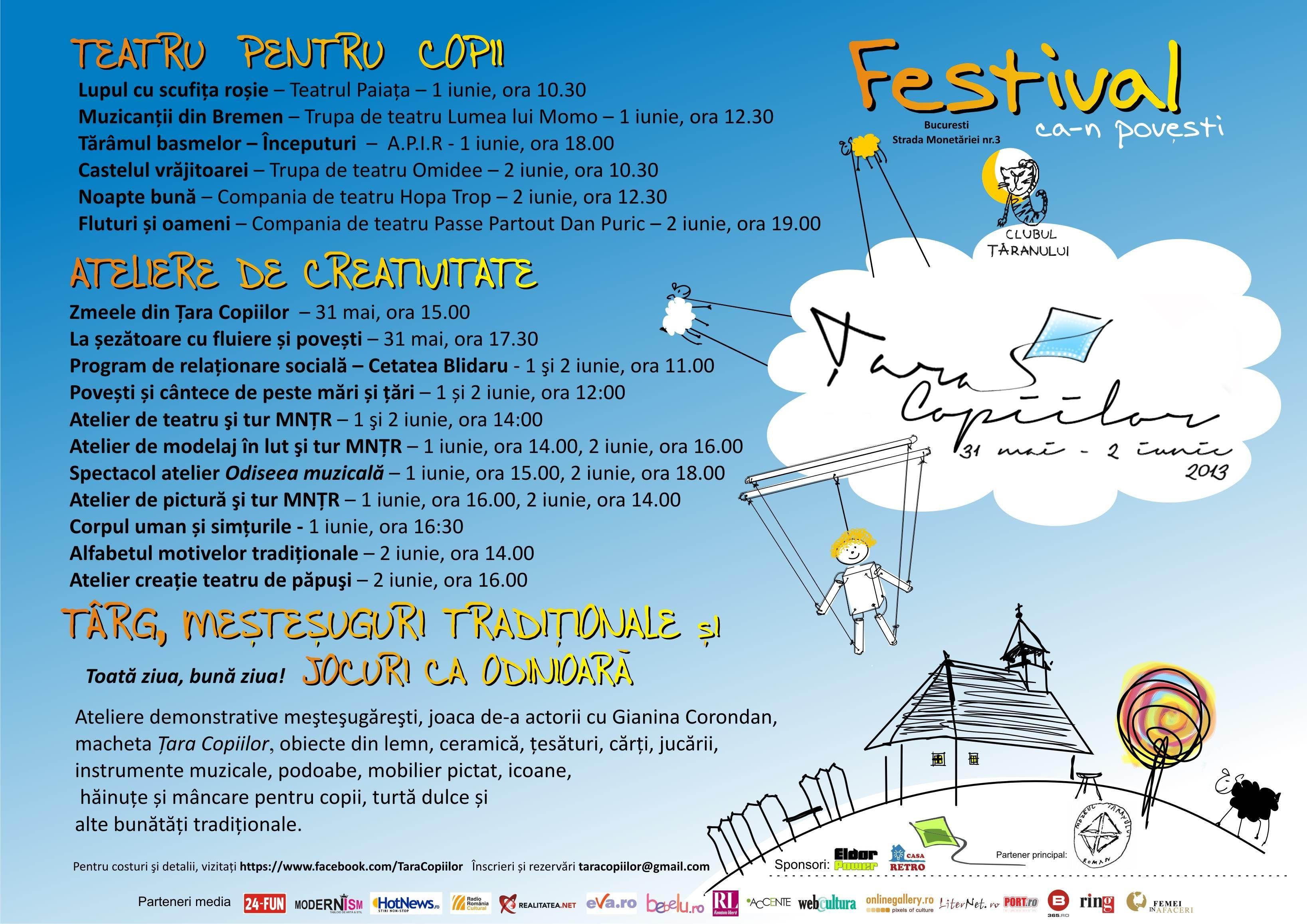 Afis festival Tara Copiilor landscape