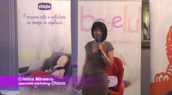 Cristina Manescu, Chicco, despre scaunele auto pentru copii