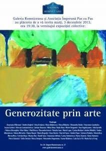 Afis Generozitate prin arte