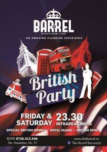 Afis British Party @ The Barrel-mic