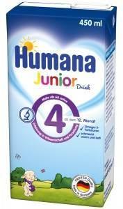 Humana Junior Drink 450ml Export  Fluessigpackung